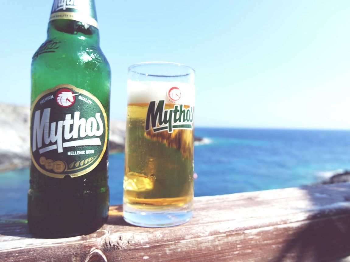 Summer ☀ Mythosbeer Having A Beer Drinking Beer Relaxing Time Icecoldbeer Check This Out Taking Photos