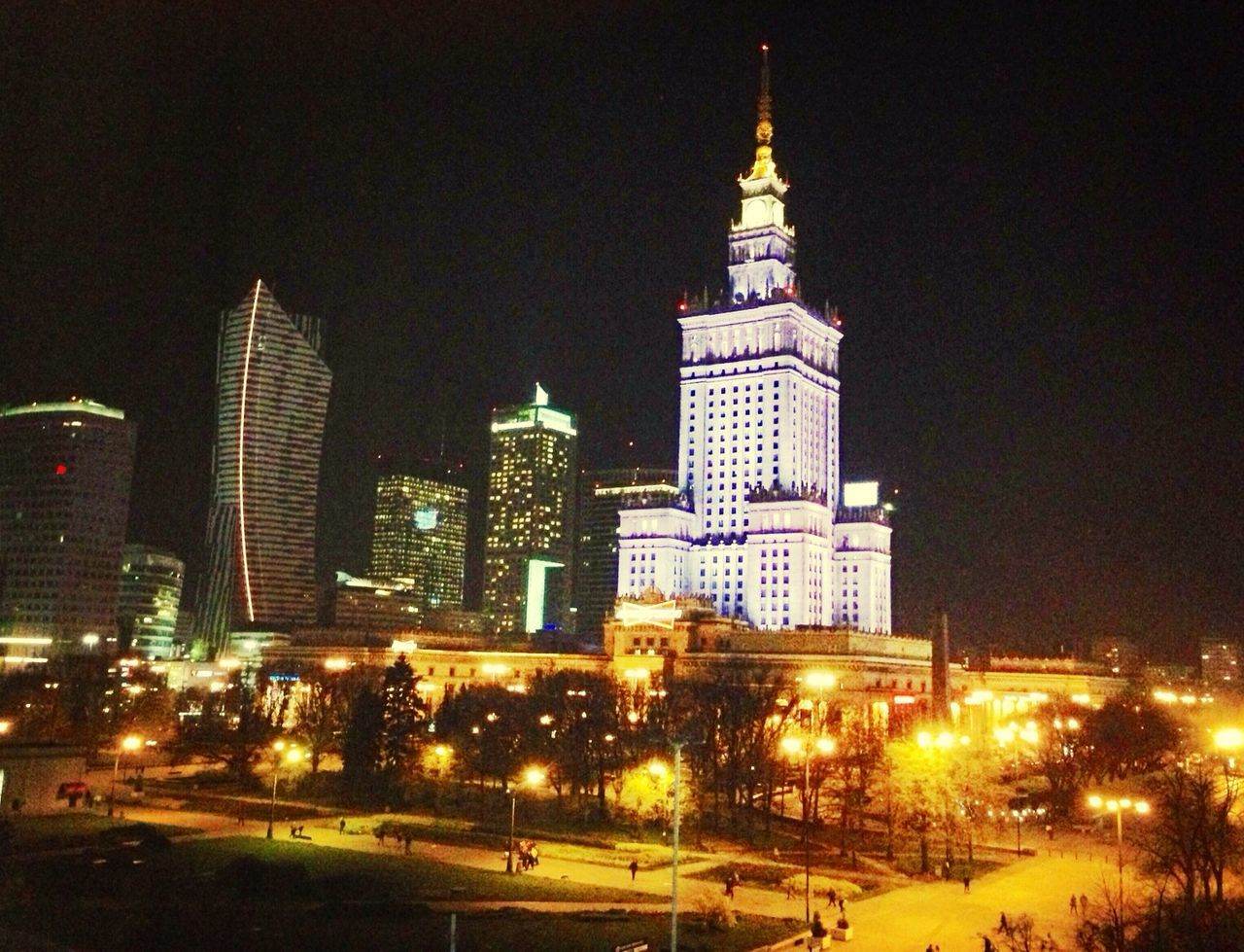 View from Polonia Palace Hotel Warsaw Poland