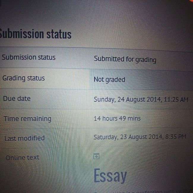 100happydays Day89 this has to be one of the best feelings I have these days.. Hitting that final submit button and seeing that I still actually have time before it's officially due!! Best feeling today!! And now for some sleep..