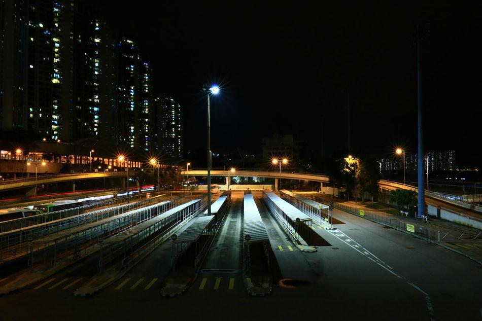 Night Illuminated Transportation No People Cityscape Discoverhongkong Urban Exploration Nightphotography HongKong Tadaa Community Night Photography Travel Destinations Cityscape Tranquil Scene 16-35mm F4L Parking Area