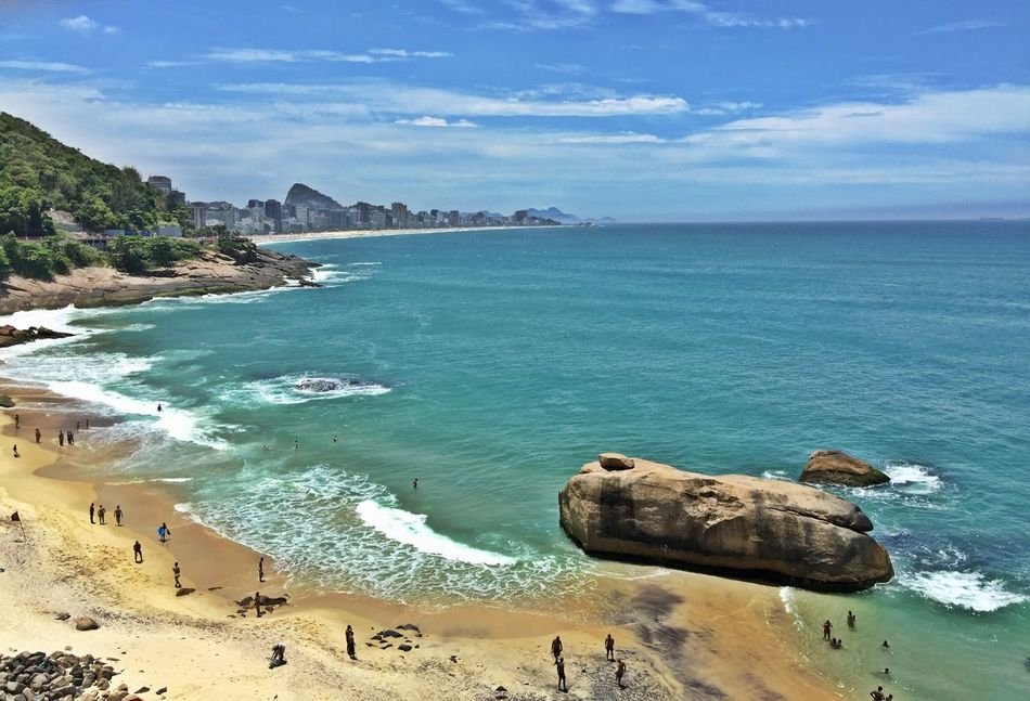Beautiful stock photos of rio de janeiro, Beach, Beauty In Nature, Day, High Angle View