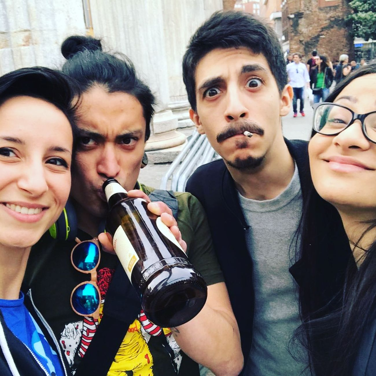 People Group Of People Friendship Day City Alcool  Beer Street City Life Architecture Smiling Person