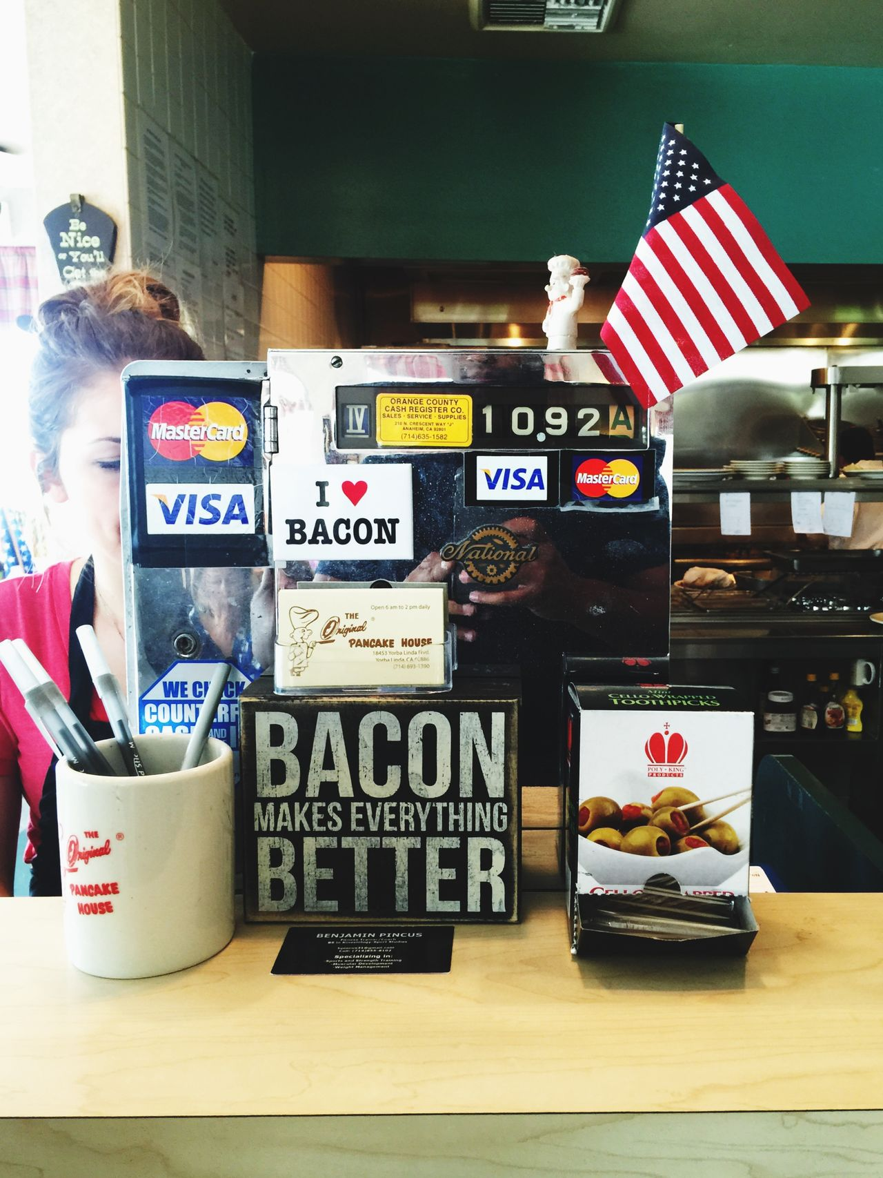 Bacon EUA USA Pancakes