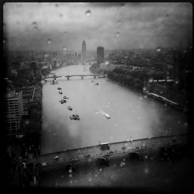 Overcast Blackandwhite Hipstamatic London LondonEye