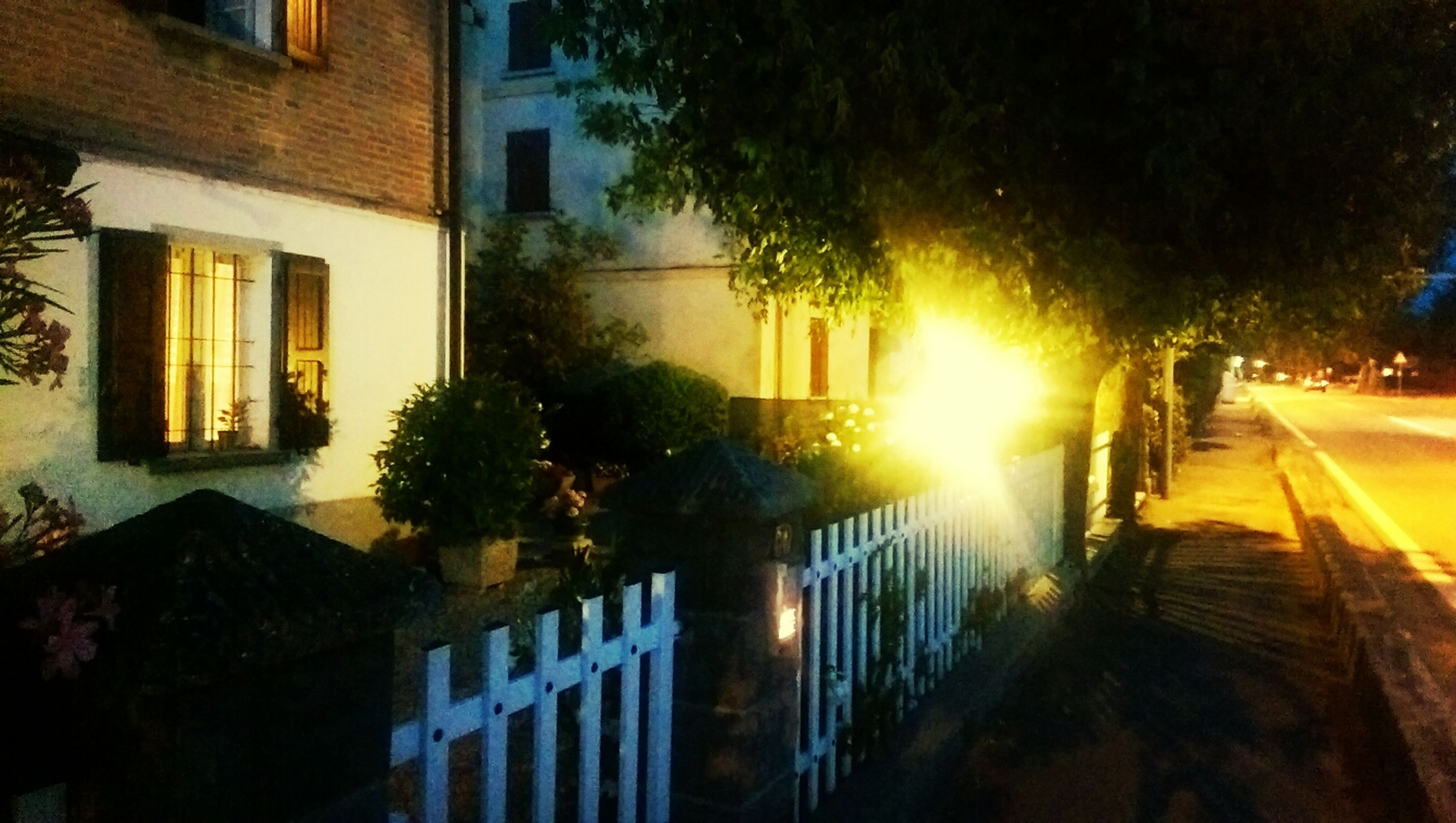 building exterior, built structure, architecture, sunlight, tree, sun, city, sunset, street, residential building, lens flare, building, sunbeam, growth, street light, residential structure, house, no people, illuminated, sky