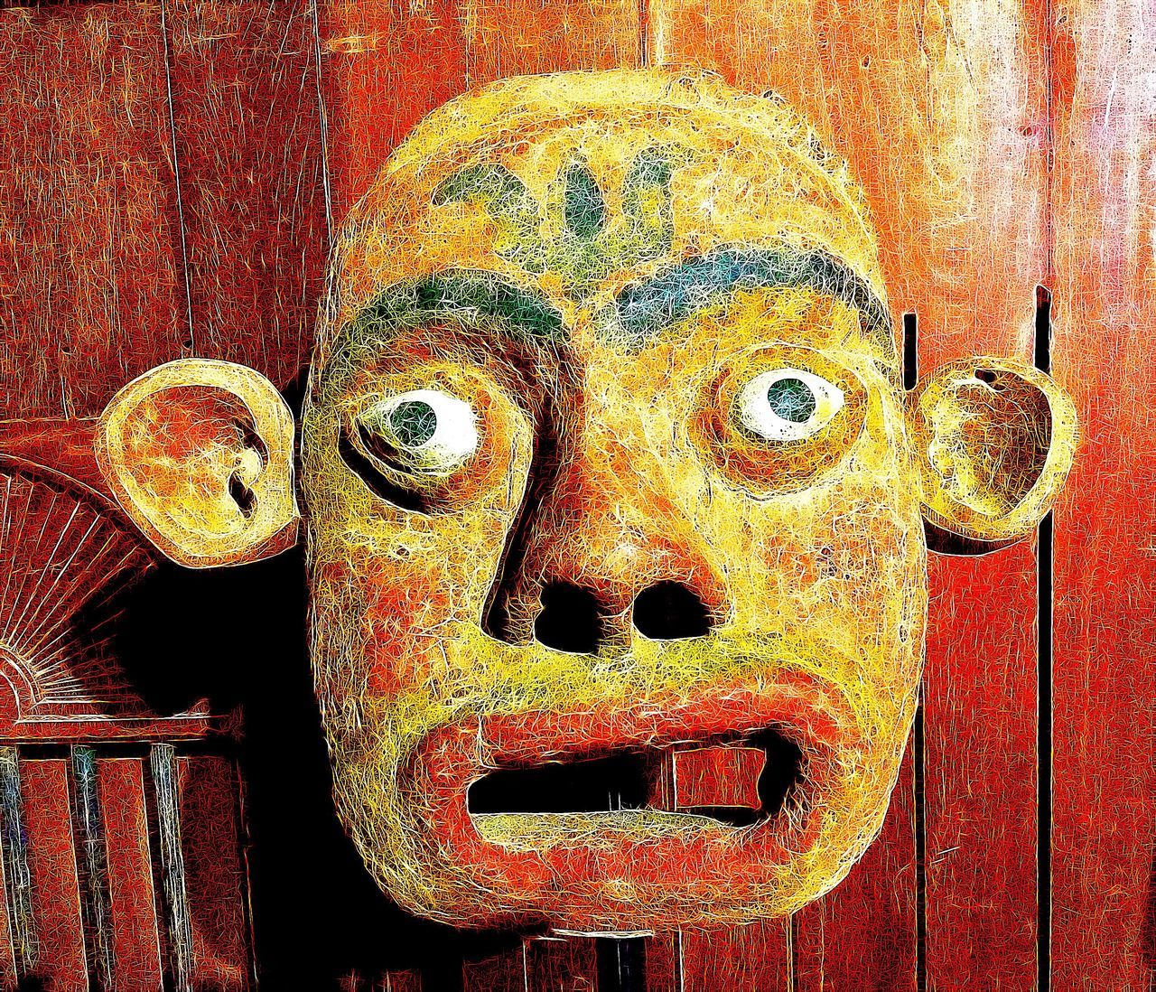 Mask Wood - Material Sculpture Art And Craft Intriguing