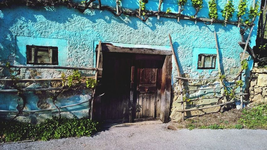 Slovenia Doors Aging House Old Countryside Village Blue Details
