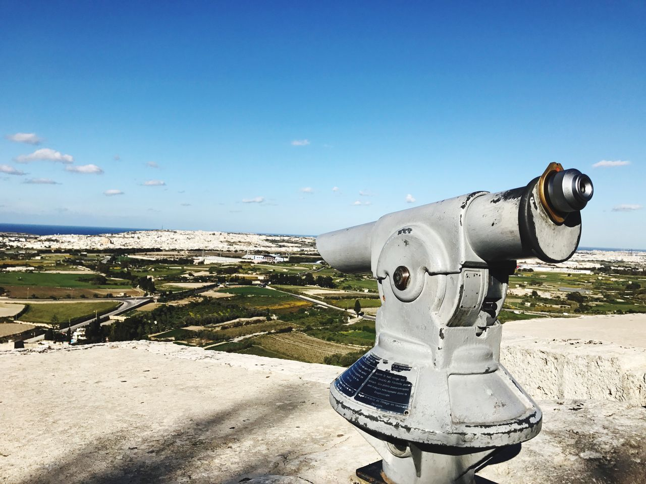 Mdina Malta MDinFocus Coin Operated Coin-operated Binoculars Telescope Surveillance Observation Point Hand-held Telescope No People Day Blue Outdoors Sky Water Scenics Close-up Nature Cityscape