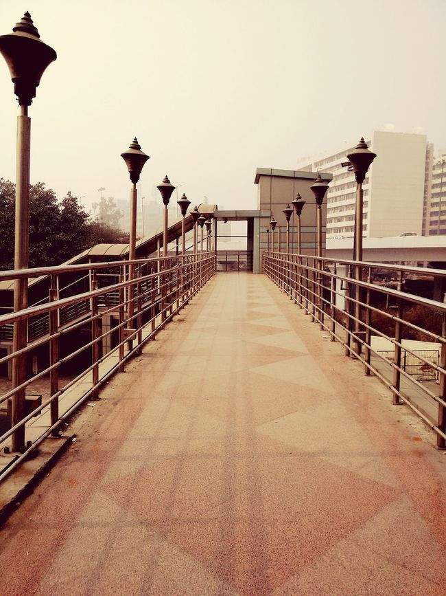 Symmetry From My Point Of View Bridge Footoverbridge Delhi Early Morning Nopeople Architecture Showcase March Modern Architecture Vintage Shadow From Where I Stand
