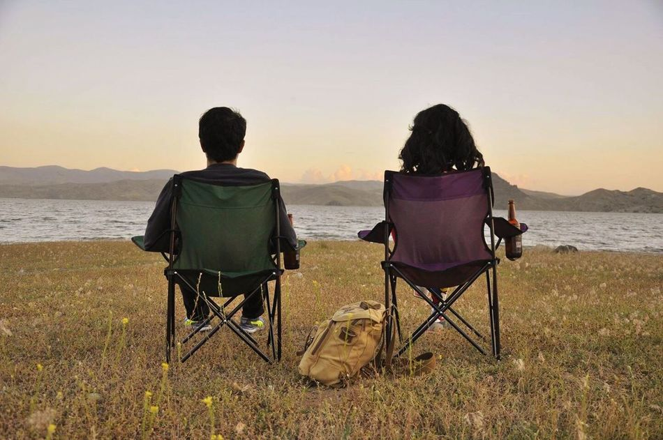 Beautiful stock photos of couples, Bag, Bottle, Chair, Dusk
