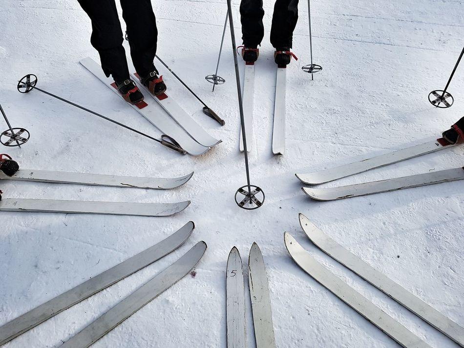 Ski Lapland Laponie Laponia Hiver Winter Human Leg Snow Sweden Suède