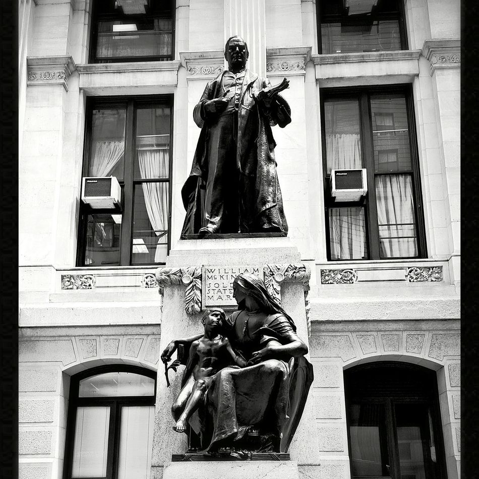 Took this picture of the William McKinley statue in Philadelphia at Cityhall during one of my outings in the city.