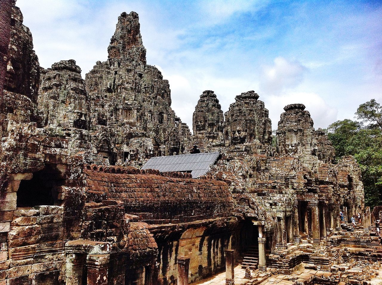 Behold Bayon Architecture Outdoors No People Built Structure Angkor Thom Cambodia Ancient Architecture Travel Photography Travel Angkor Siem Reap Ancient Temple Ancient Civilization Temple Bayon The Week Of Eyeem
