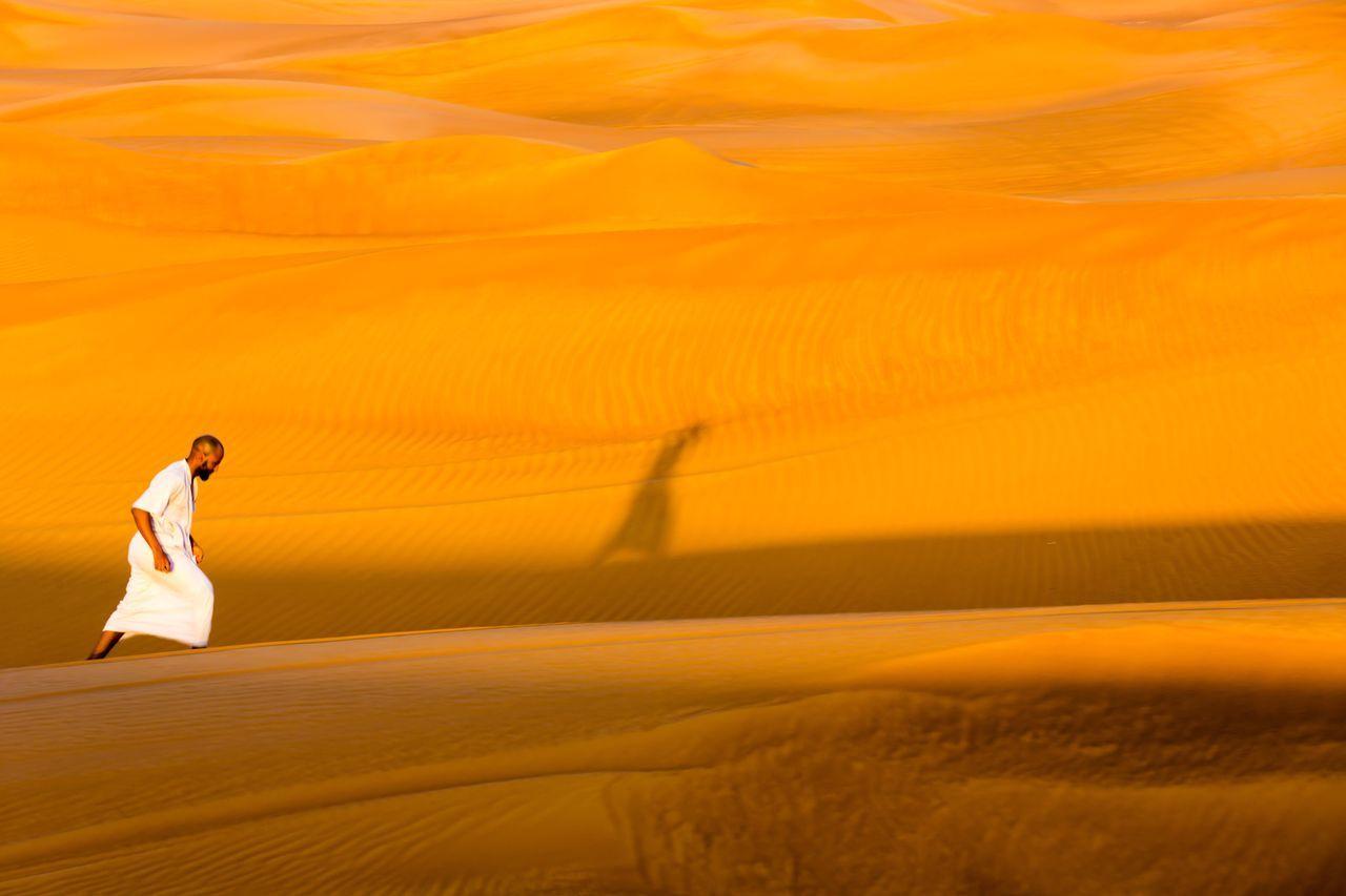 Beautiful stock photos of dubai, sand, desert, full length, one person