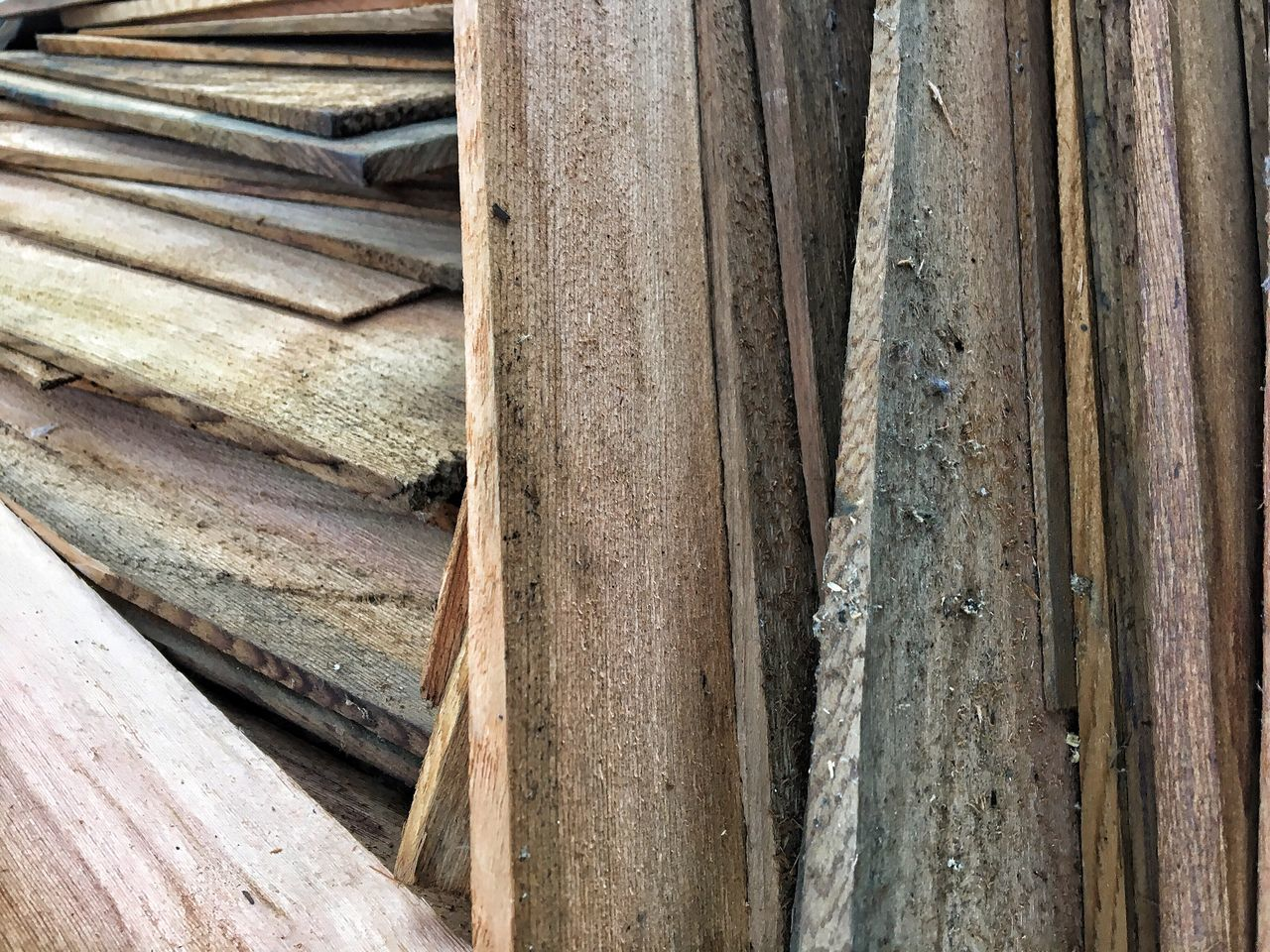Outdoors Day Abstract Backgrounds Wood - Material Full Frame No People Textured  Pattern Close-up Used Shingles Weathered