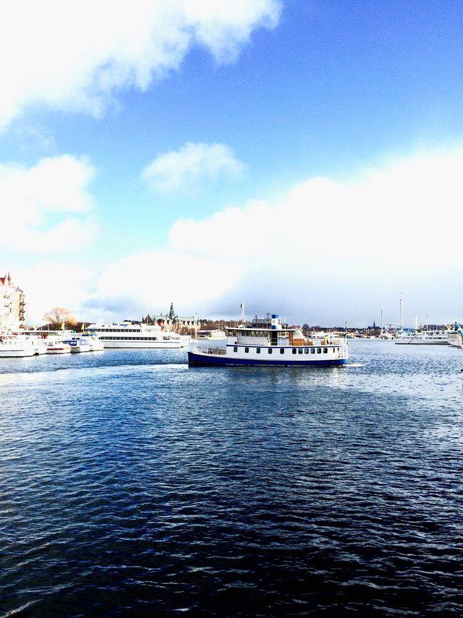 Boat Stockholm, Sweden Town Harbour EyeEm Gallery EyeEmBestPics Buildings,style,arquitecture,sky Buildings And Sky City EyeEm Eyeemphotography EyeEm Best Shots - Landscape Landscape_Collection Landscape