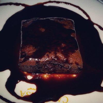 Brownie Wid Hot Chocolate Enjoy Wid Frnd At Café Casa YyYuuMMmIieeee Enjoyment PicOfTheDay....
