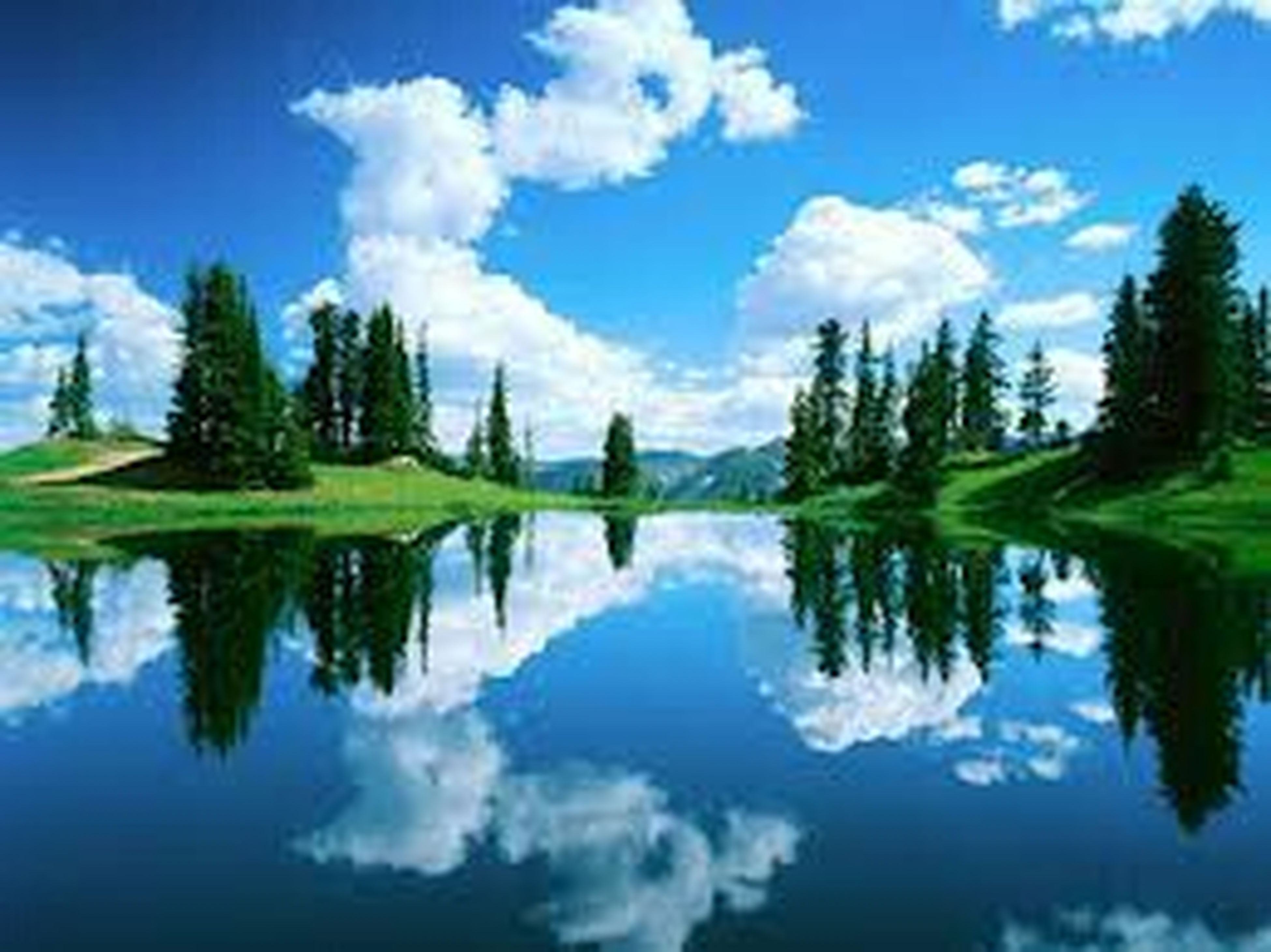 reflection, sky, lake, water, tranquility, tranquil scene, tree, scenics, beauty in nature, cloud - sky, standing water, blue, waterfront, cloud, nature, symmetry, idyllic, calm, growth, day