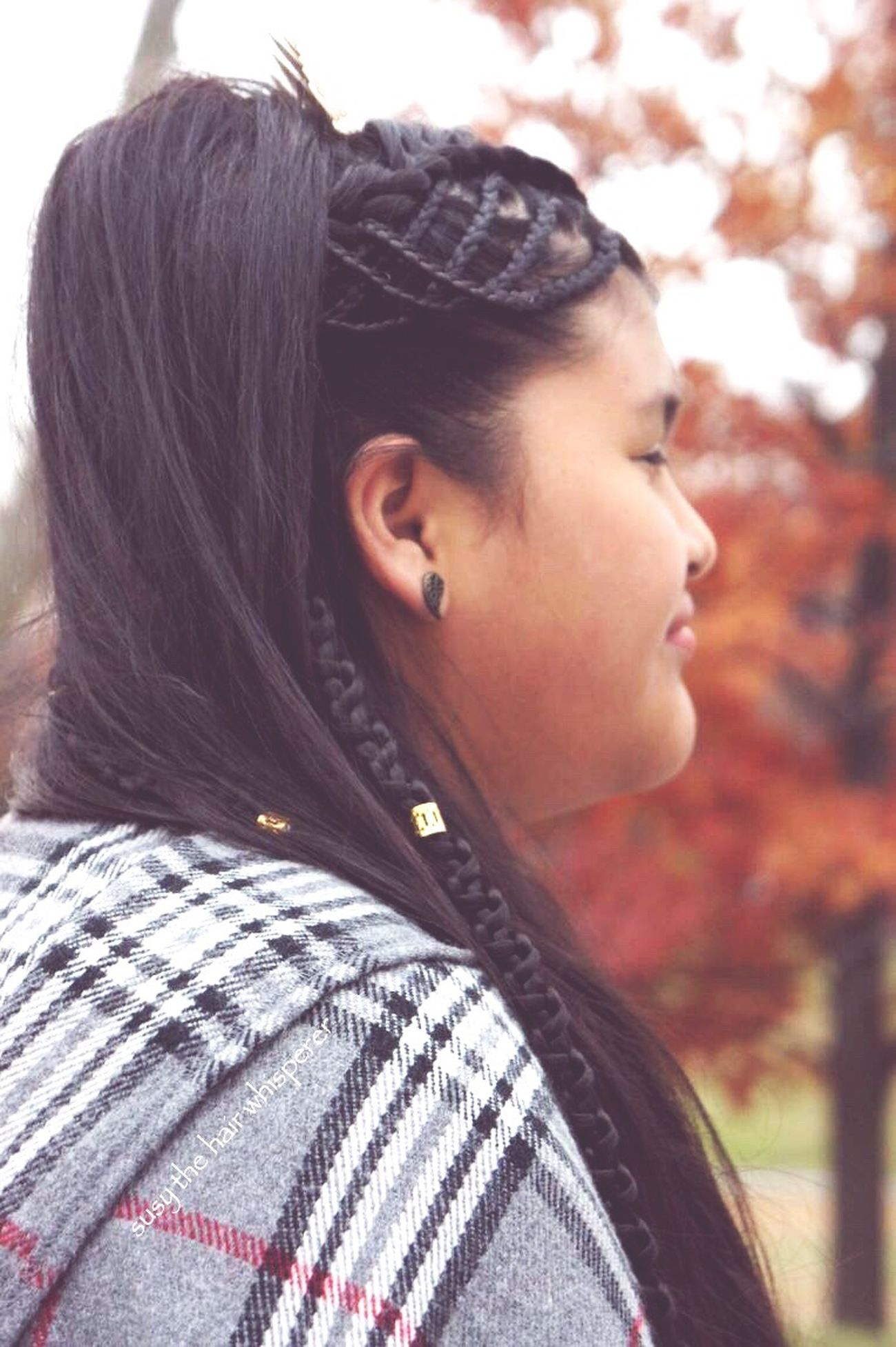 Fall Fall Beauty Headshot Looking Over Shoulder Outdoors Hair Hairstyle Braids Braided Hair Long Hair Holiday