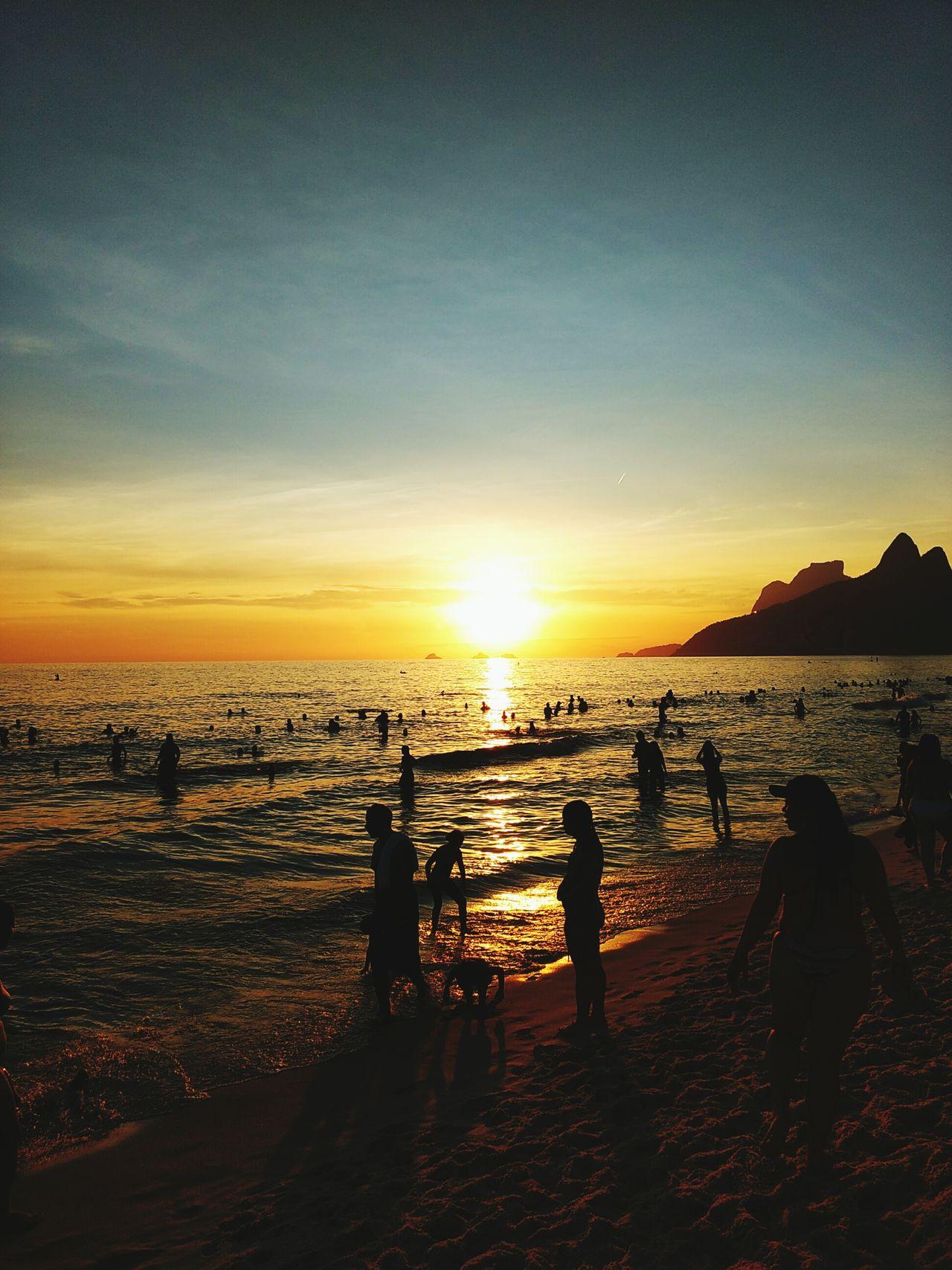 Sunset at Ipanema Beach - Rio de Janeiro - Brazil First Eyeem Photo Beach Sunset Summer Sunlight Rio De Janeiro Ipanema Ipanema Beach Brazil