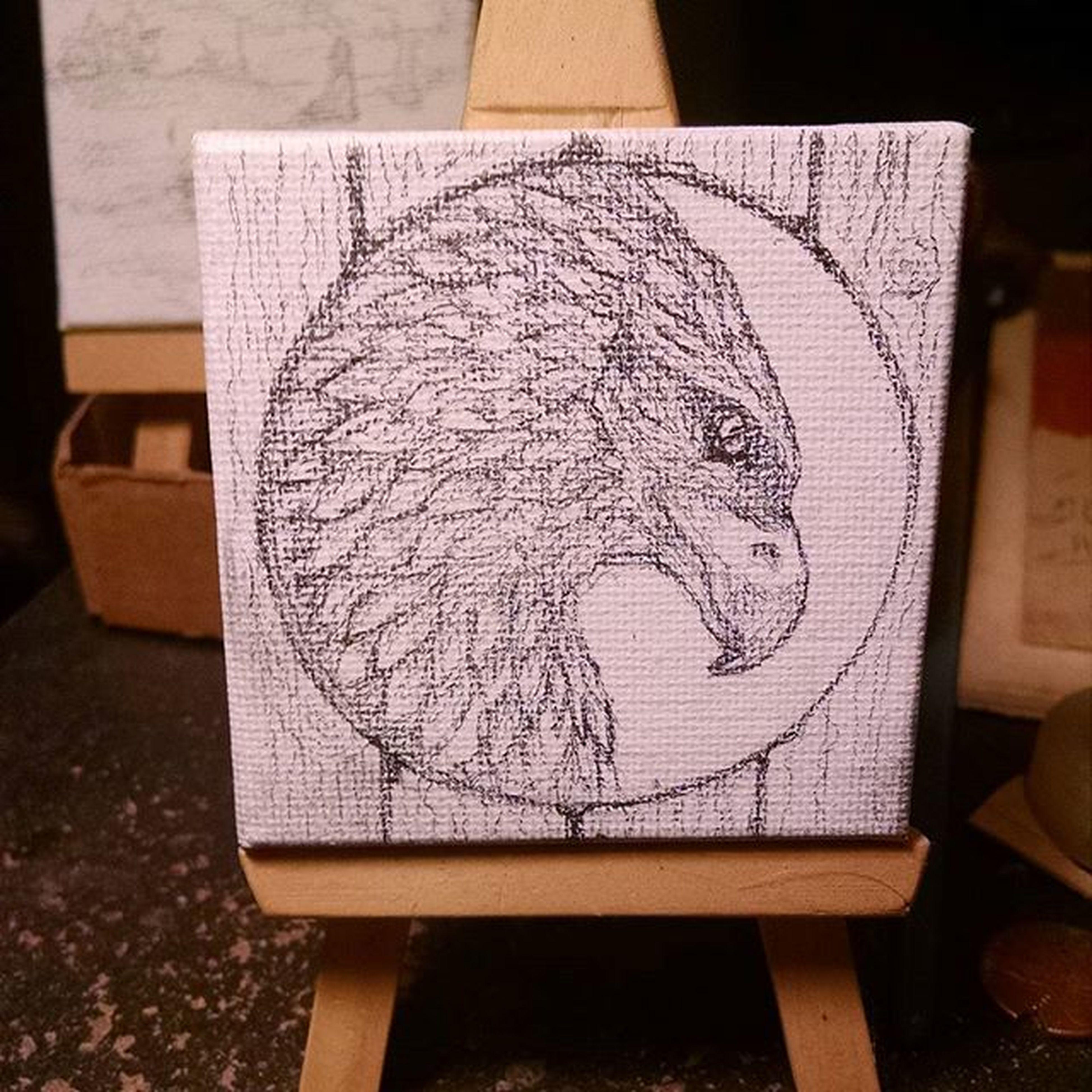 Pencil sketch on mini canvas. Eagle medicine :) Art Artist Pencil Sketch Eagle Totem Medicinecards