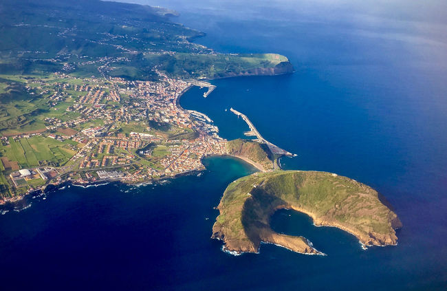 Aerial View Azores Beauty In Nature Blue Calm Coastline Day Horta Idyllic IPhoneography Island Nature Non-urban Scene Ocean Outdoors Rock Formation Scenics Sea Seascape Shore Tranquil Scene Tranquility Vacations Water Waterfront