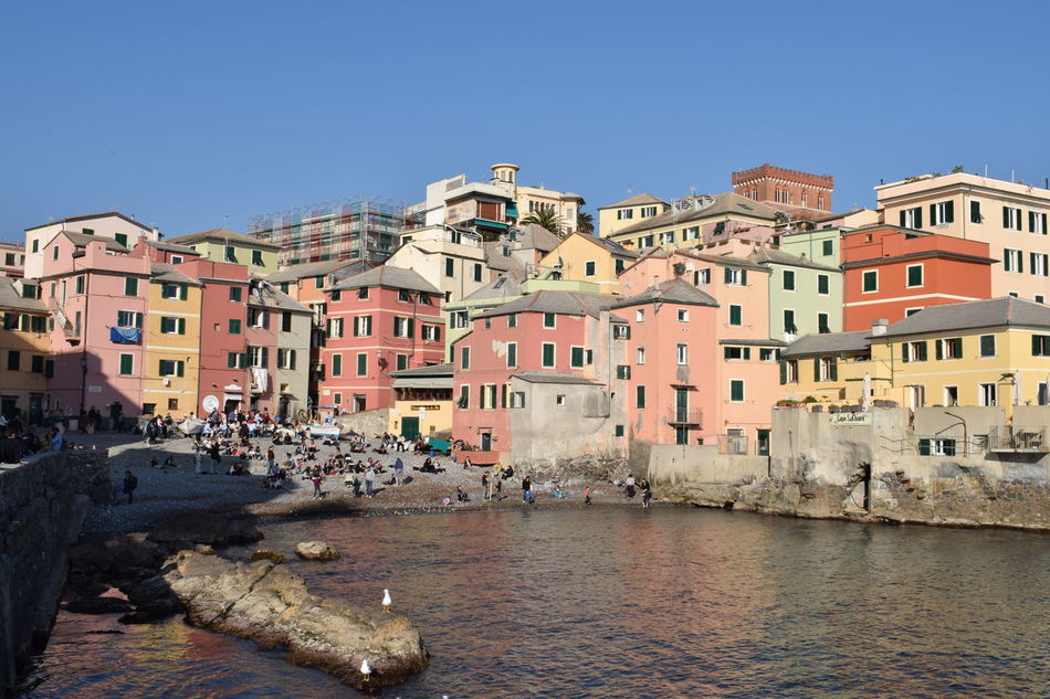 Bocadasse beach Beach Bocadasse Building Exterior Charming Houses Charming Place Clear Sky Day Fishermen's Village Fishermenvillage Italia Italy Outdoors Sea Travel Destinations