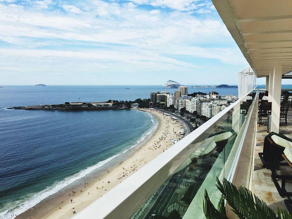 Copacabana Beach Praia Sea Mar Vista Iphone6 Sky