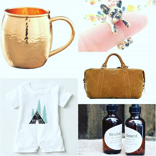 Round one of some of my fav picks & something for everyone on your list this Holiday @Storenvy Blackfridaysale including my JAC &Jil Handmade goods for the Home Napkins & Teatowels ..all 30% off...yippee! Support small business Copper  Mule Mugs Wraparound Frenchbulldog Gold Ring Jewelry Leather Overnightbag Weekender Adventure Baby Romper Onesie Beard oil Gifts Shopping