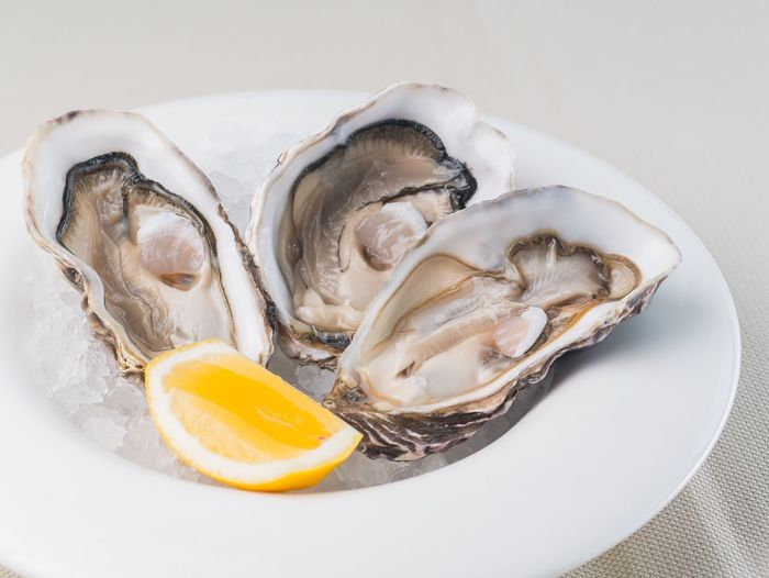 Seafood Food And Drink Food Freshness Oyster  Healthy Eating Close-up No People Mussel White Background Indoors  Ready-to-eat Oyster Time Oysterbar Seafoods Lemon Ice Restraunt Food And Drink Dish Luxury Delicatessen