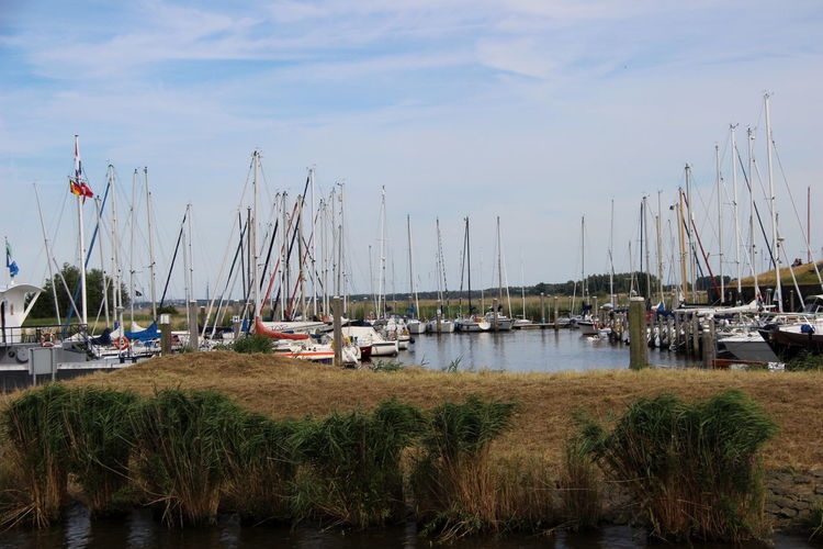 Netherlands Beauty In Nature Boat Day Grass Harbor Lake Mast Mode Of Transport Moored Nature Nautical Vessel No People Noord Brabant Outdoors Sailboat Sky Tranquility Transportation Water Willemstad Yacht