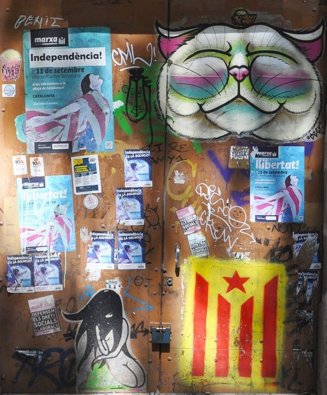 Graffiti Catalunya Llibertat Affiche Independencia Street Art Street Art/Graffiti