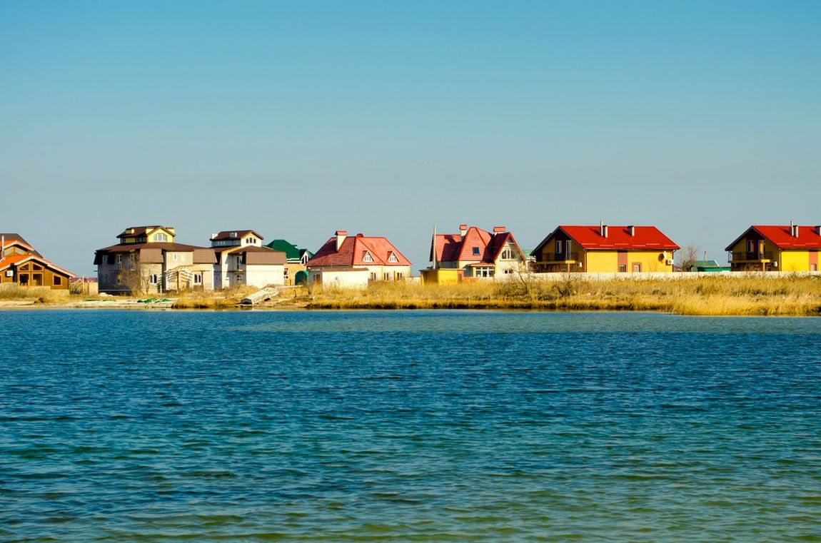 House Azov Seaside Enjoying Life Buildings Village Nature Sea And Sky Landscape My Country In A Photo