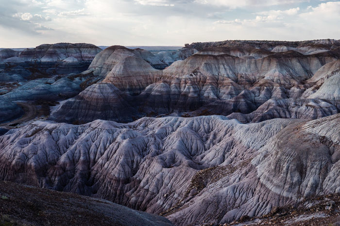 Arizona Canyons Hiking Petrified Forest National Park Arid Climate Beauty In Nature Desert Extreme Terrain Geology Landscape Mountain Mountains No People Outdoors Petrifed Forest Rock - Object Rock Formation Scenics Sky Southwest  Tranquil Scene Tranquility Travel Destinations