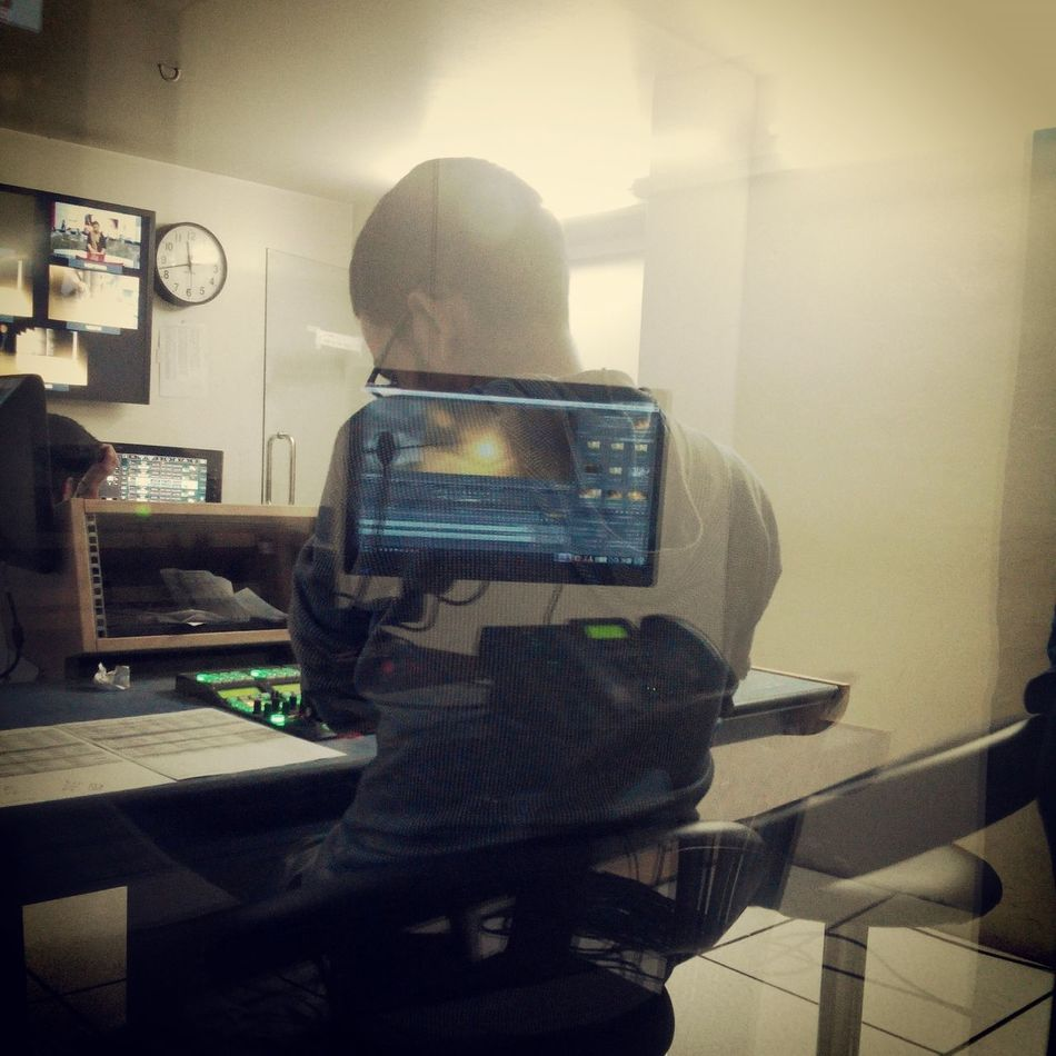 Behind the TV production