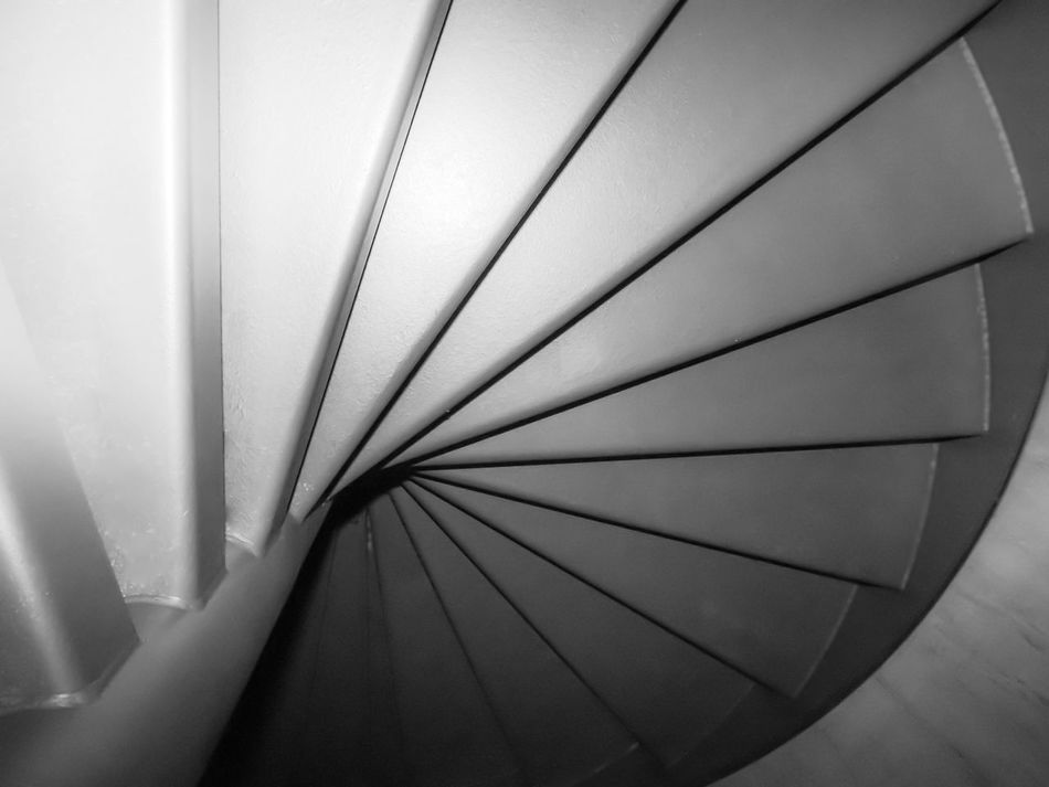 Architecture Backgrounds Black And White Built Structure Caracole Ceiling Close-up Day Full Frame Gray Color Gray Stairs Grayscalephotography Illuminated Indoors  Low Angle View No People Pattern Shades Shades Of Grey Stairs Steel Structure  Steps Steps Of Light Upstairs Upstairs,downstairs