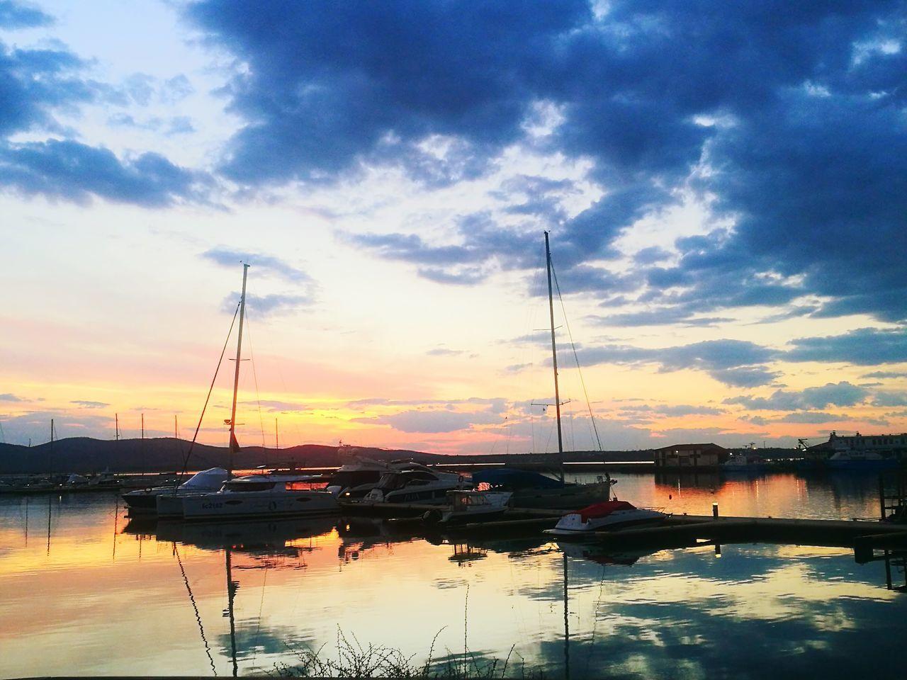 Water Reflection Sunset Dramatic Sky Cloud - Sky Outdoors Sea Sozopol Sozopolis Bulgaria