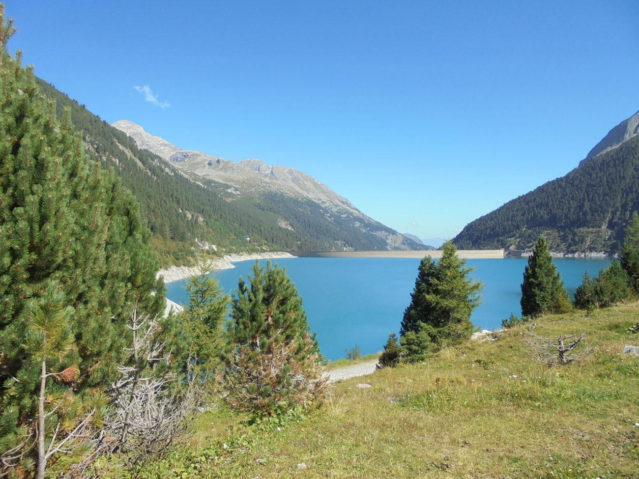 Austria ❤ IlloveTirol Landscape_photography Eyeemnaturelover💕💕😊☺ Stausee Reservoir Schlegeis Stausee Schlegeisspeicher Lake Stuwmeer Bluesky