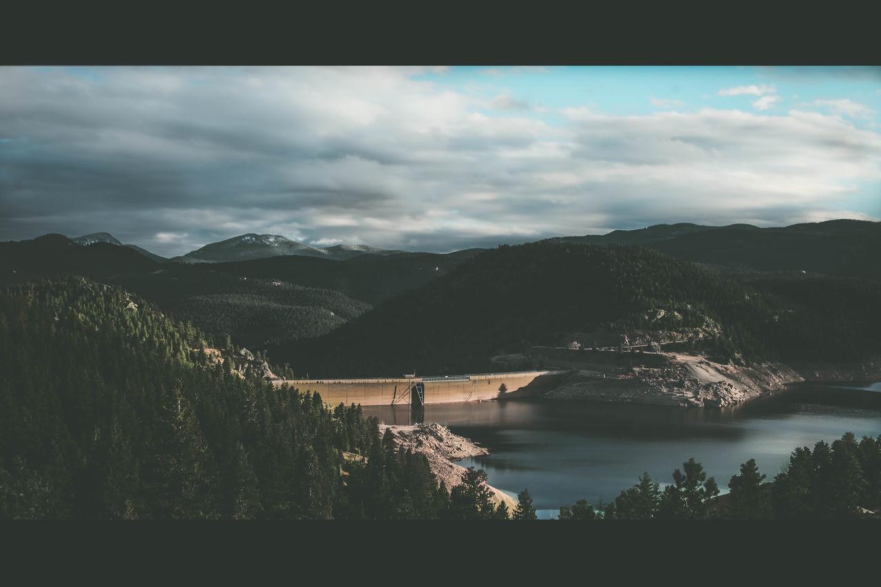Dam Forest Gross Dam Mountain Reflection Resovoir Rocky Mountains Rocky Mountains USA