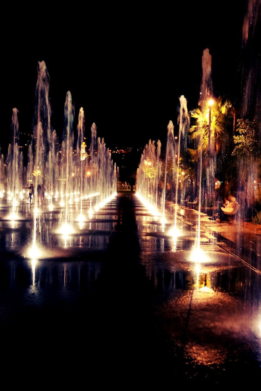 night, illuminated, reflection, water, long exposure, outdoors, no people, travel destinations, architecture, nature, sky