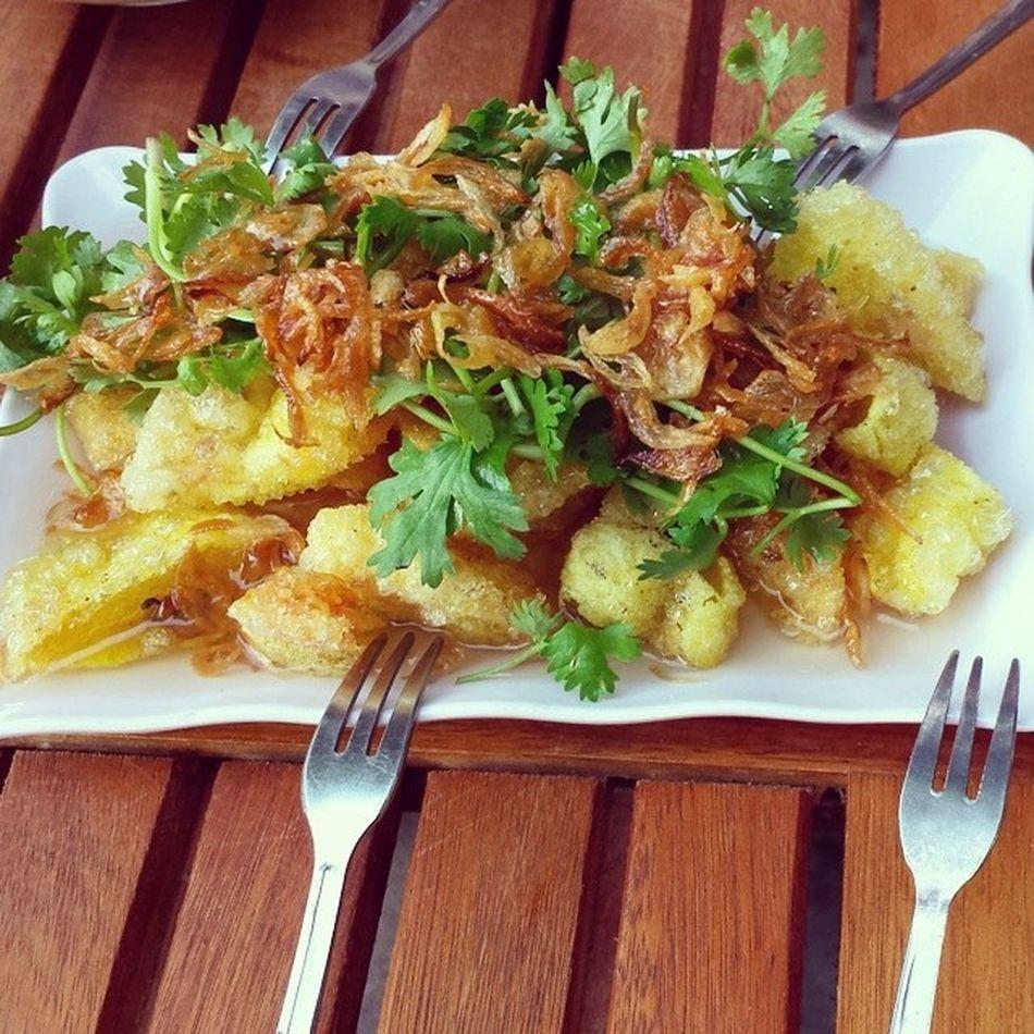 Bánh bèo rán :3 nhớquathemquadoiqua TT Banh Beo delicious Vietnamese dishes Vinhcity my hometown