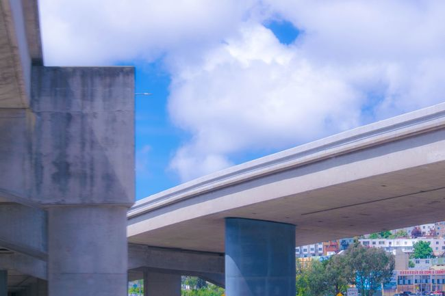 Freeway Bridge Taking Photos Hello World Hanging Out Photography Popular Popular Photos EyeEm Gallery Eye4photography  Buildings & Sky Bridge Bridge And Sky Sky_collection Sky And Clouds Blue Sky High Angle View Highway
