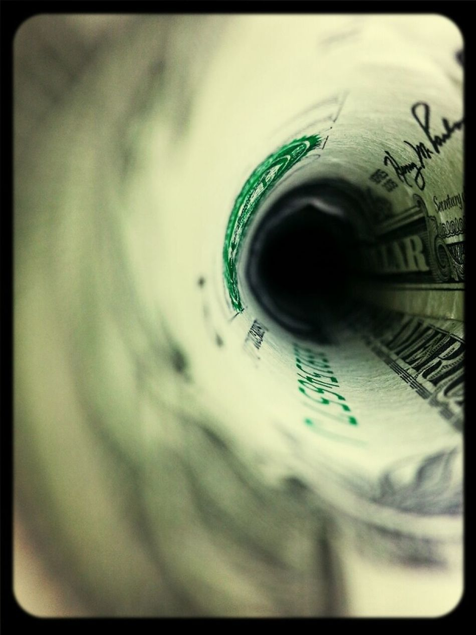 Money is but a black hole