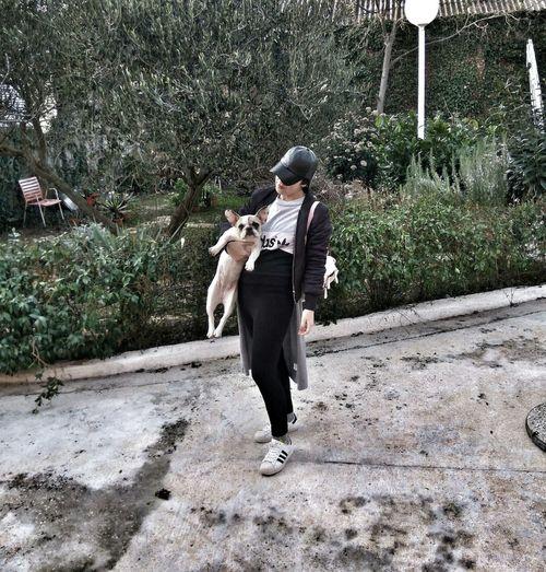 Outdoors Frenchbulldog Frenchie Dog Love Dog Girl
