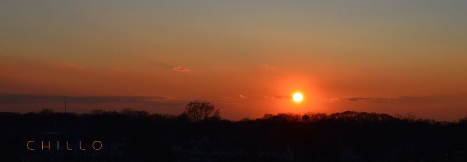 First light. Sunrise Sun_collection Morning Beauty Nikon Nikon D3200 No Edit/no Filter Raw HDR Photography Eye4photography  Panorama Panoramic Photography Landscape Landscape_Collection Trees Silhouette Clouds And Sky Colors Light And Shadow Beautiful Heaven Winter Longisland NYC