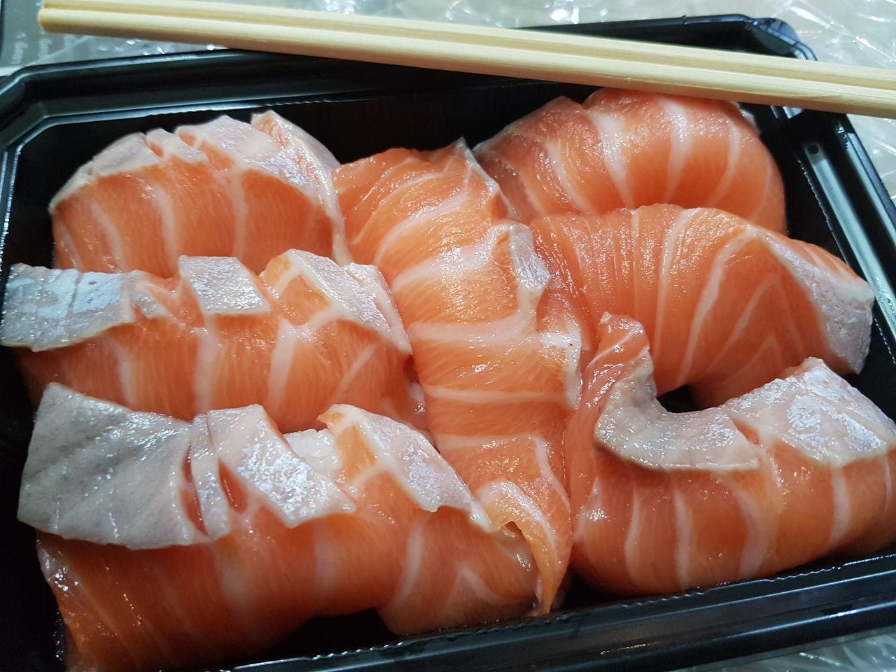 Salmon. Seafood Food Sushi Sashimi  Raw Food Salmon Fish Japan Japanese Food Delicious Salmon Sashimi Salmon Sushi Yummy Salmon Close Up Salmon Dish