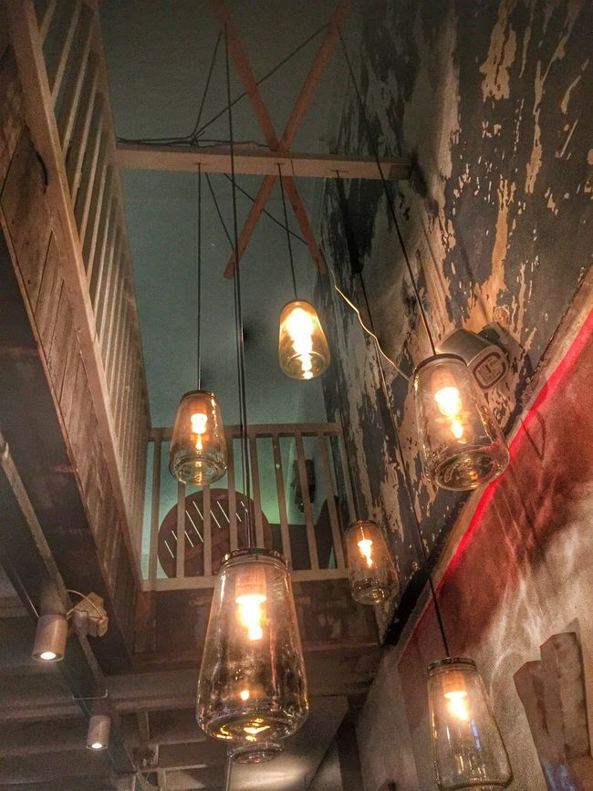 Illuminated Hanging Lighting Equipment Low Angle View Pendant Light Electric Light Hanging Light Lit History No People Light Beam EE Love Connection! EyeEm Best Shots Taking Photos Friends Night Out \m/ Eye4photography  Interior Design Interior TakeoverContrast