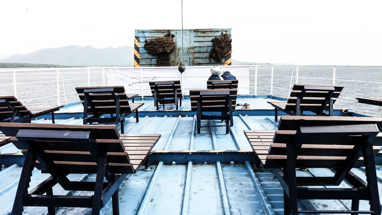 EyeEmNewHere Trip Boat Boatdeck Journey Outdoors Sea Day Sky Water EyeEm Gallery Photography Eyeemmarket Traveling Travel Photography Boat Deck Throwback