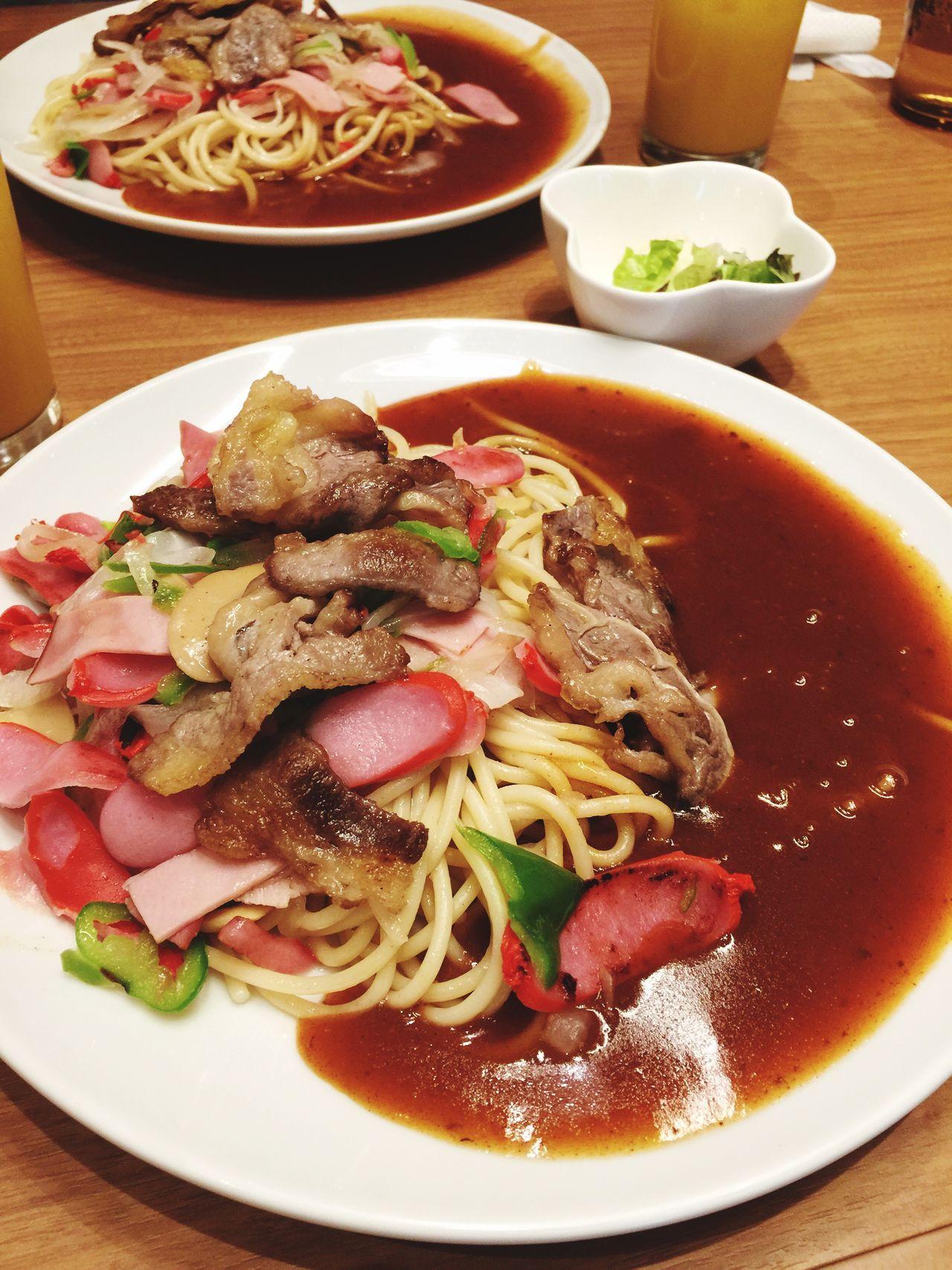名古屋飯 Food And Drink Ready-to-eat Food Serving Size Freshness Plate Healthy Eating Table Indoors  Noodles Still Life Bowl Meal No People Vegetable Meat Close-up Soup SLICE Garnish あんかけスパ ミラカン ヨコイ