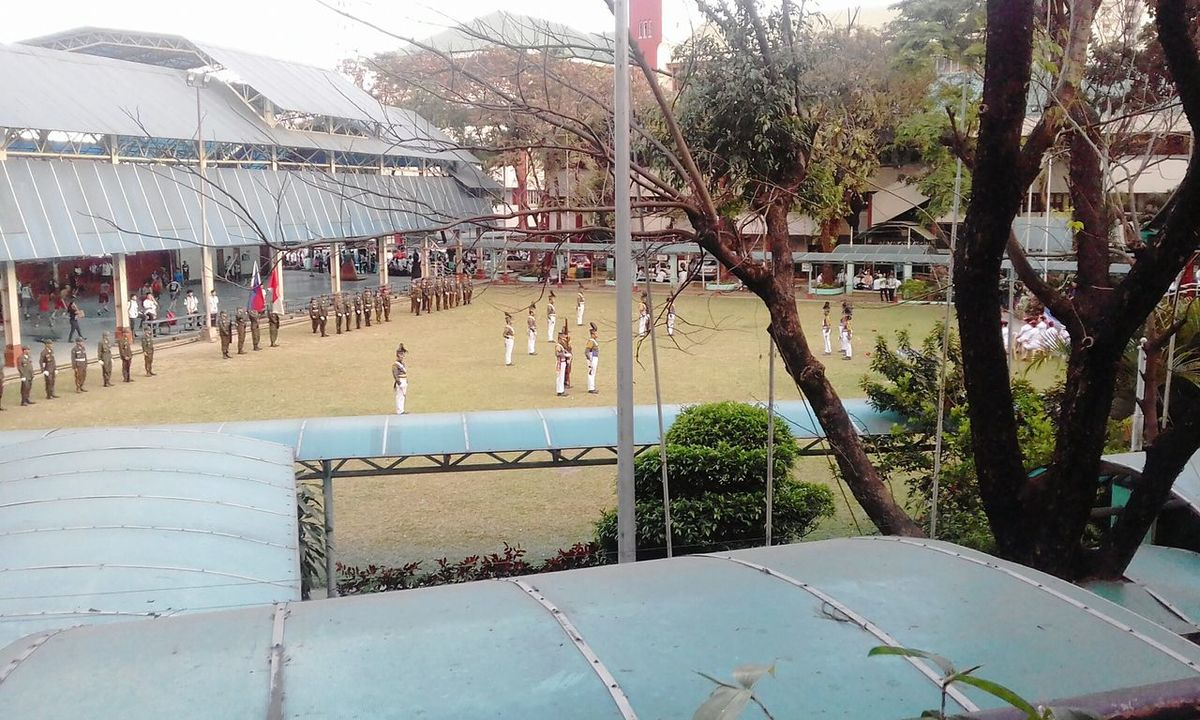 People School Uniform Graduation ROTC Uniform Building Studentlife  Far View Field Building Exterior Manila, Philippines